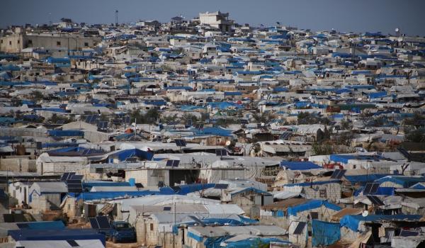 Im Flüchtlingslager «Atmeh» an der türkischen Grenze leben tausende Menschen in Zeltunterkünften.